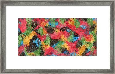 Colors In Harmony Framed Print by Diretorio do Design
