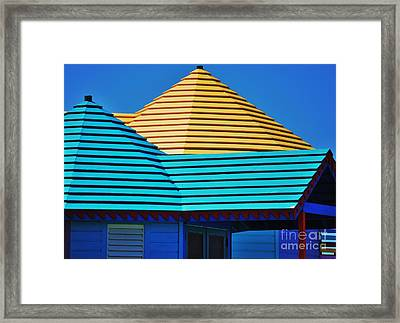 Colors Of Compass Point Framed Print by Poet's Eye