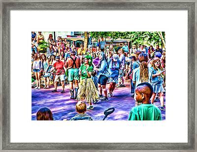 Colors Of The Drum Circle Framed Print by John Haldane