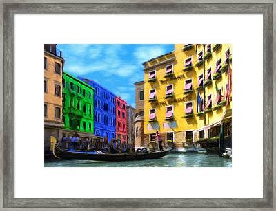 Colors Of Venice Framed Print by Jeff Kolker