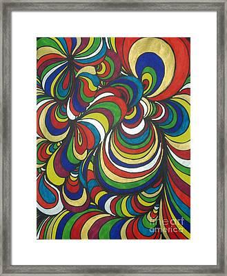 Colorway 2 Framed Print by Ramneek Narang