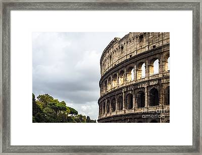 Colosseum Closeup Framed Print by Prints of Italy