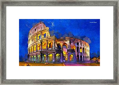 Colosseum - Da Framed Print by Leonardo Digenio