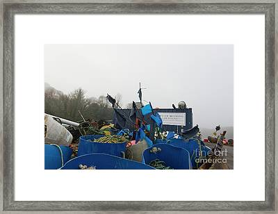 Colour On A Misty Day Framed Print by Terri Waters