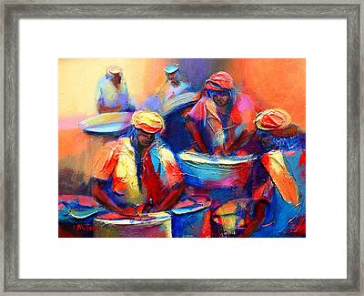 Colour Pan Framed Print by Cynthia McLean