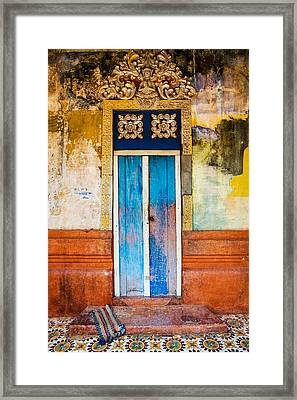 Colourful Door Framed Print by Dave Bowman