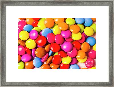 Colourful Round Candy Balls Closeup  Framed Print by Jorgo Photography - Wall Art Gallery