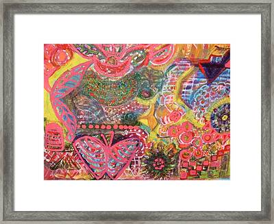 Colours And Shapes Medley Framed Print by Anne-Elizabeth Whiteway