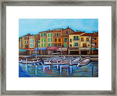 Colours Of Cassis Framed Print by Lisa Lorenz