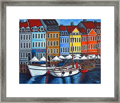 Colours Of Nyhavn Framed Print by Lisa  Lorenz