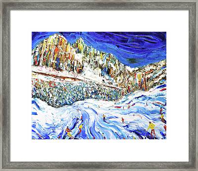 Colours Of The Dolomites Framed Print by Pete Caswell