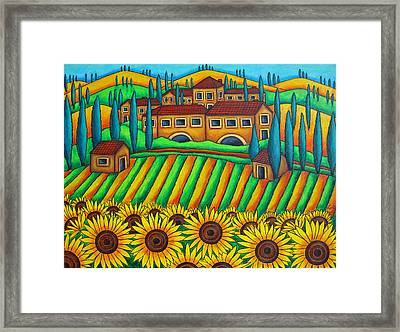 Colours Of Tuscany Framed Print by Lisa  Lorenz