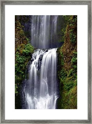 Columba River Gorge Falls 3 Framed Print by Marty Koch