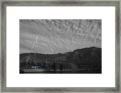 Columbia Boat Framed Print by Dylan Punke