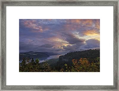 Columbia Gorge Sunrise Framed Print by Loree Johnson