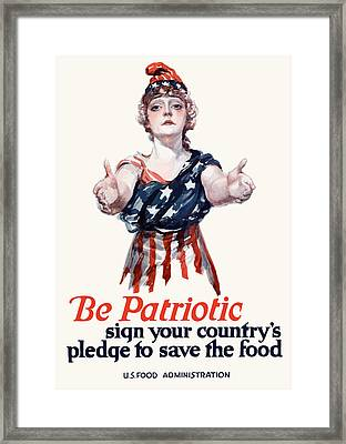 Columbia Invites You To Save Food Framed Print by War Is Hell Store