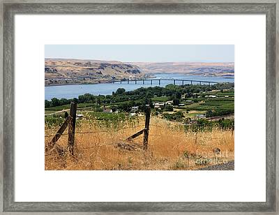 Columbia River - Biggs And Maryhill State Park Framed Print by Carol Groenen