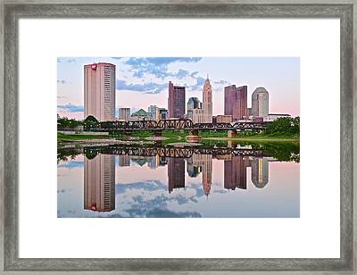 Columbus Ohio Reflects Framed Print by Frozen in Time Fine Art Photography