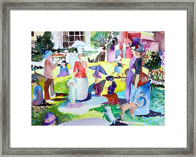 Columbus Ohio Topiary Comes Alive Framed Print by Mindy Newman