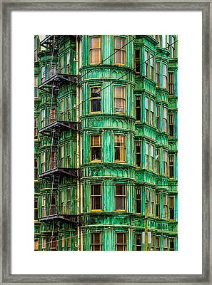 Columbus Tower Framed Print by Bill Gallagher