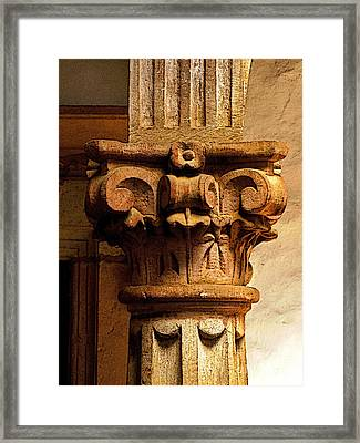 Column's Capital Framed Print by Mexicolors Art Photography