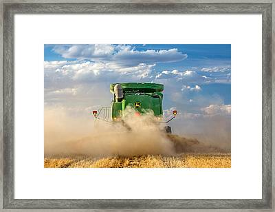 Combine's Backside Framed Print by Todd Klassy