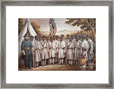 'come And Join Us Brothers' Framed Print by American School