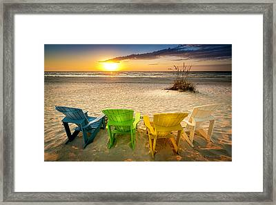 Come Relax Enjoy Framed Print by Marvin Spates