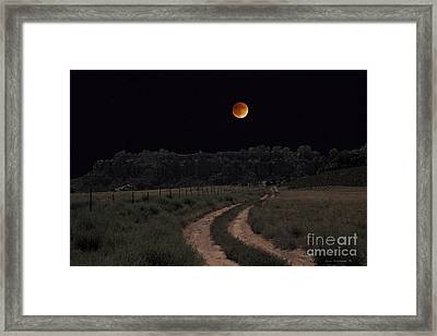 Come To The Moon Framed Print by John Stephens