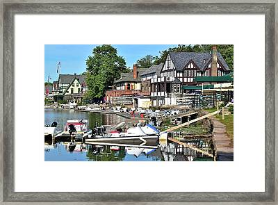 Come Visit Boathouse Row Framed Print by Frozen in Time Fine Art Photography