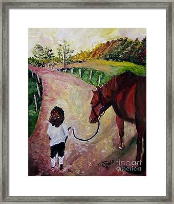 Come With Me Framed Print by Tina Swindell