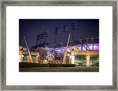 Comerica Park At Night Framed Print by Matthew Harper
