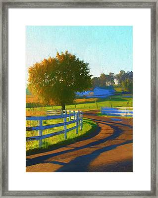 Comfortable Country Morning Framed Print by Dan Sproul