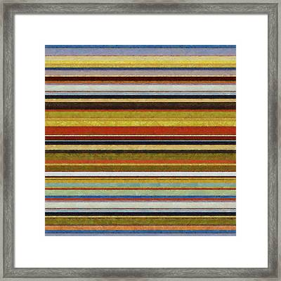 Comfortable Stripes Vl Framed Print by Michelle Calkins