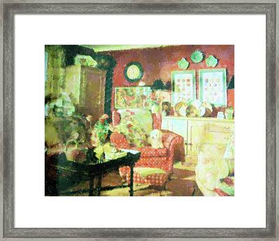 Comforts Of Home Framed Print by Florene Welebny