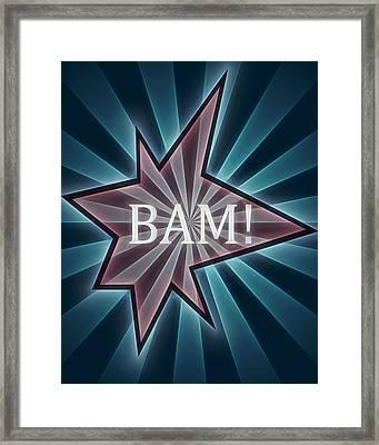 Comic Book Bam Framed Print by Dan Sproul