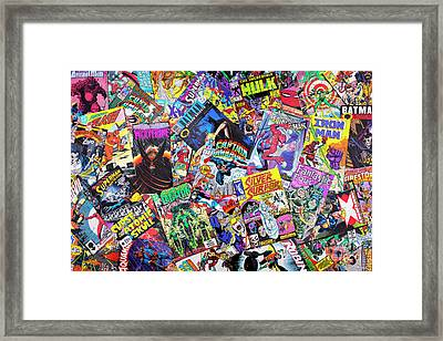 Comic Books Framed Print by Tim Gainey