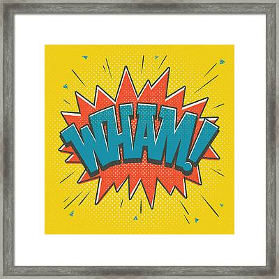 Comic Wham Framed Print by Mitch Frey