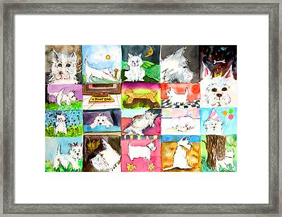 Comical Westie Framed Print by Mindy Newman