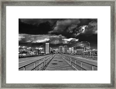 Coming In On Manchester Framed Print by Tim Wilson