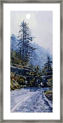 Coming Into La Honda Framed Print by Donald Maier
