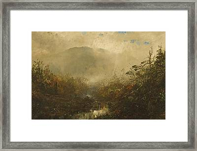 Coming Storm In The Adirondacks Framed Print by William Sonntag