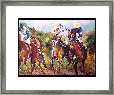 Comissioned Line Of David 2010 Ak Derby Winner  Framed Print by Amanda  Sanford