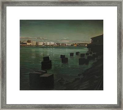 Commencement Bay Framed Print by Thu Nguyen