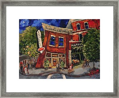 Commerce Kitchen Huntsville Alabama Framed Print by Carole Foret