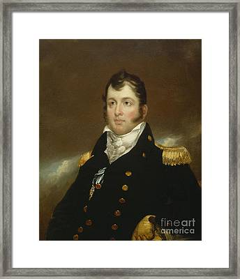 Commodore Oliver Hazard Perry Framed Print by John Wesley Jarvis