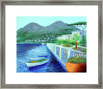 Como A Vision Of Delight Framed Print by Larry Cirigliano