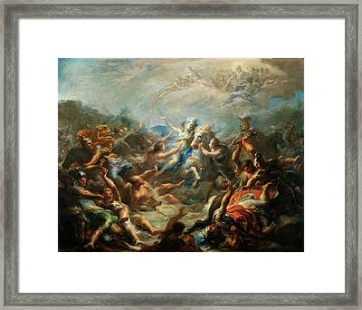 Camillia At War From Virgils Aeneid Framed Print by Giacomo del Po