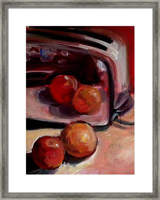 Comparing Apples And Oranges 2 Framed Print by Paula Strother
