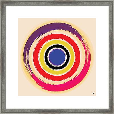 Compass Brush Framed Print by Gary Grayson